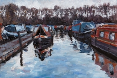 Pyrford Marina -  8 x 6 inches     Cost  £ 120